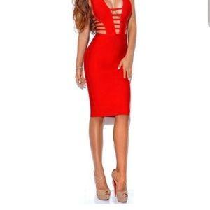 Authentic Miss Circle Bandage Dress